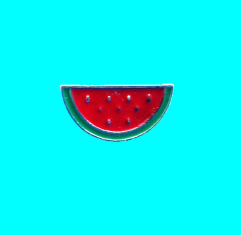 Watermelon enamel lapel pin