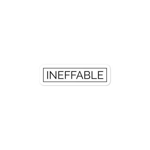 Ineffable Minimalist Words Dictionary Bubble-Free Vinyl Stickers