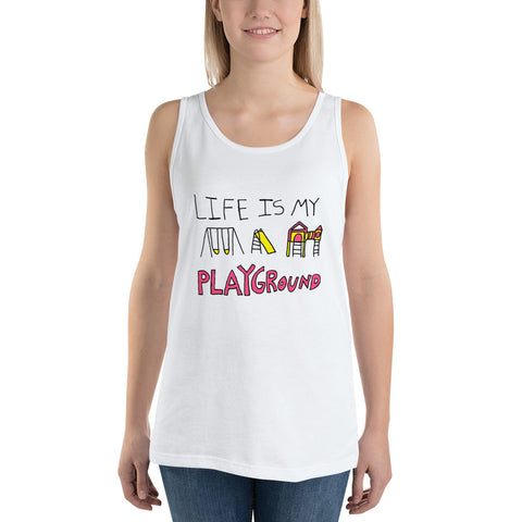 Life is My Playground Unisex Jersey Tank