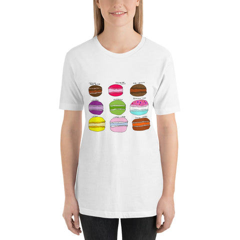 Whimsical Colorful Creative Macarons Cookies Bakery Sweet Short-Sleeve Unisex T-Shirt