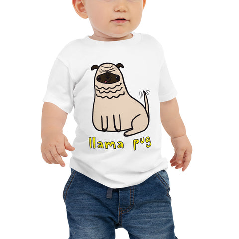 Llama Pug Alpaca Dog Cute Dogs Pugs Kawaii Adorable Pet Unisex Baby Jersey Short Sleeve Tee