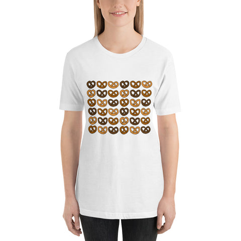 Soft Pretzels Pretzel Wall Cute Food Bakery Short-Sleeve Unisex T-Shirt