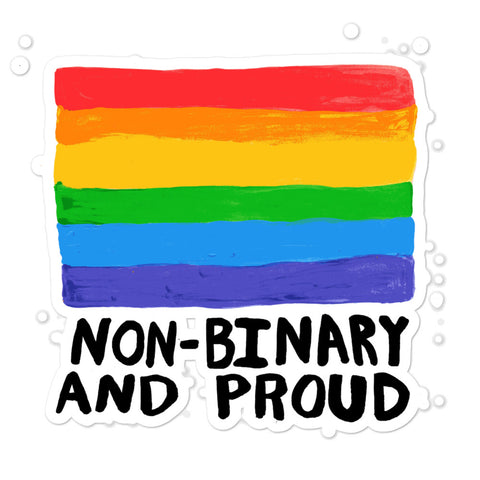 Non-Binary and Proud LGBTQIA+ Pride Gender Identity Enby NB ACPride Series Stickers