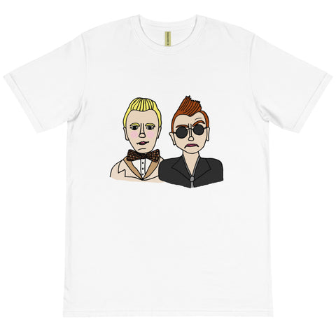 Good Omens Aziraphale and Crowley Ineffable Husbands Organic T-Shirt