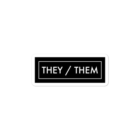 They/Them Pronoun Minimalist Gender Identity Pride LGBTQIA+ ACPride Series Rectangle Sticker