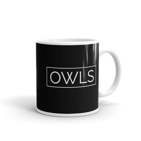 Your Theme: OWLS Stylish Fun Black & White Mug