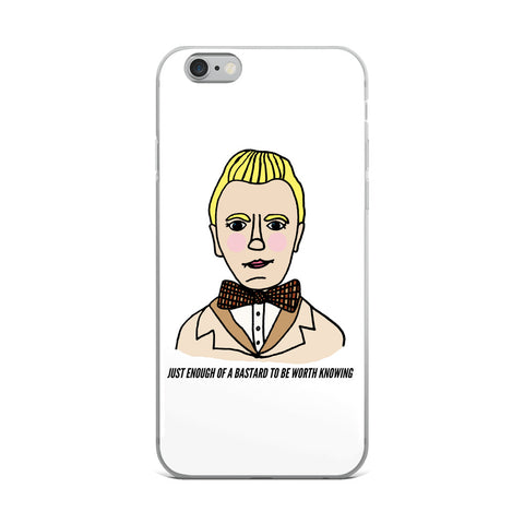 Just Enough of a Bastard to Be Worth Knowing Good Omens Aziraphale Ineffable iPhone Case