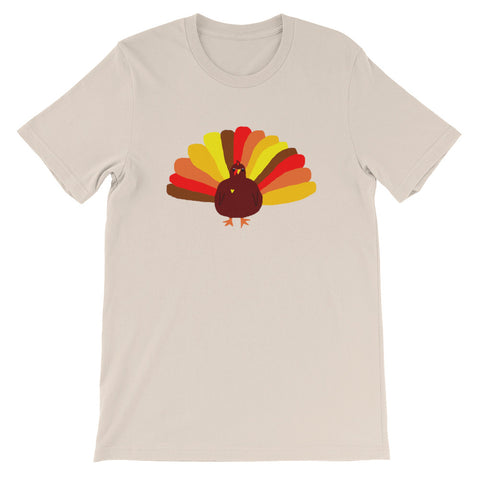 Cute Turkey Short-Sleeve Unisex T-Shirt