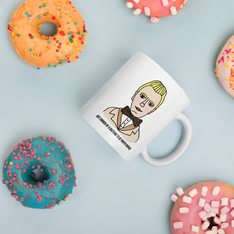 Just Enough of a Bastard to Be Worth Knowing Good Omens Aziraphale Ineffable Mug Coffee Cup