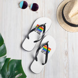 LGBTQIA+ and Proud Pride ACPride Series Flip-Flops