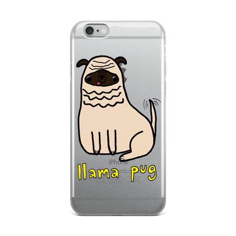 Llama Pug Alpaca Dog Cute Dogs Pugs Kawaii Adorable Pet iPhone Case