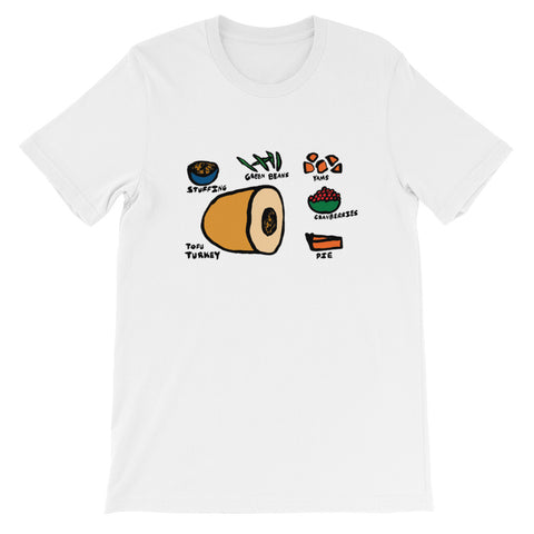 Vegetarian/Vegan Thanksgiving Food Short-Sleeve Unisex T-Shirt
