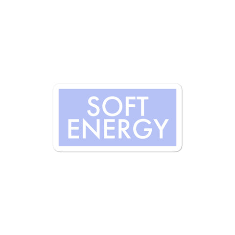 Soft Energy Softness Sticker