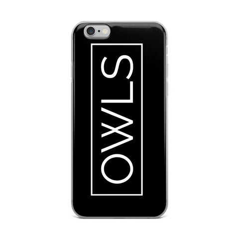 Your Theme: OWLS Stylish Fun Black & White iPhone Case