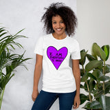 I Am Everything I Need Self Love Yourself Anti Valentines' Day Heart Short-Sleeve Unisex T-Shirt - Purple Heart