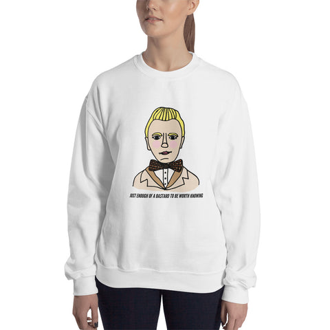 Just Enough of a Bastard to Be Worth Knowing Good Omens Aziraphale Ineffable Unisex Sweatshirt