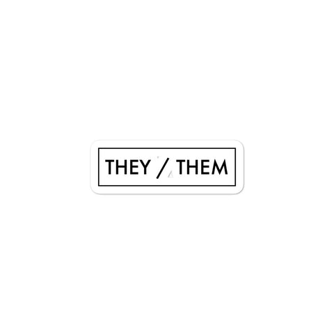 They/Them Pronoun Minimalist Gender Identity Pride LGBTQIA+ ACPride Series Stickers