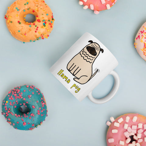 Llama Pug Alpaca Dog Cute Dogs Pugs Kawaii Adorable Pet Mug