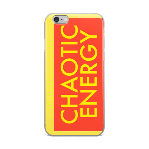Chaotic Energy Chaos iPhone Case
