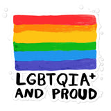LGBTQIA+ and Proud Pride ACPride Series Stickers