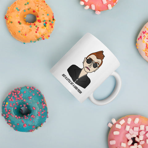 Just a Little Bit a Good Person Good Omens Crowley Ineffable Mug Coffee Cup