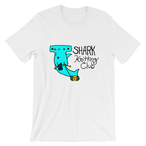 Shark Knitting Club Hammerhead Shark - Cute Shark Week Short-Sleeve Unisex T-Shirt