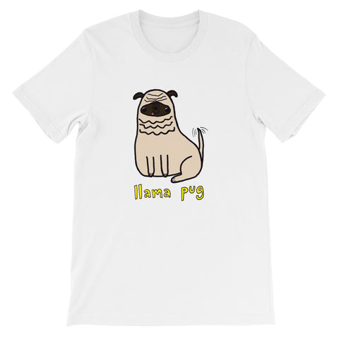 Llama Pug Alpaca Dog Cute Dogs Pugs Kawaii Adorable Pet Short-Sleeve Unisex T-Shirt