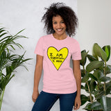 I Am Everything I Need Self Love Yourself Anti Valentines' Day Heart Short-Sleeve Unisex T-Shirt - Yellow Heart
