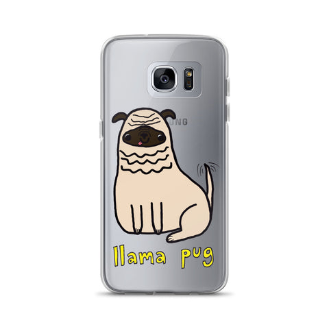 Llama Pug Alpaca Dog Cute Dogs Pugs Kawaii Adorable Pet Samsung Case