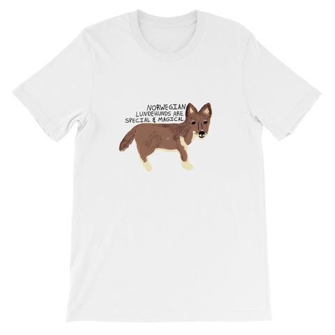 Norwegian Lundehunds are Special & Magical Dog Breed Short-Sleeve Unisex T-Shirt