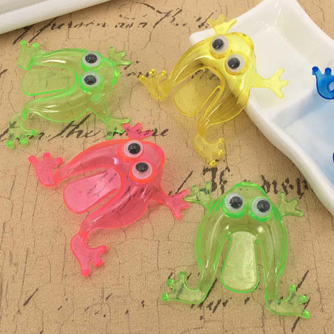 10Pcs Mini Jumping Frog Toy - Party Favors, Random Colors