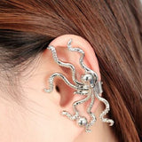 Octopus Ear Wrap/Ear Cuff Clip On Earring