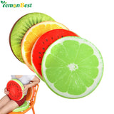 Fruit Shaped Throw Pillow Cushion - Watermelon/Lemon/Kiwi/Lime