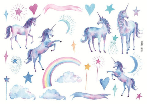 Pretty Whimsical Unicorn Stickers (2 Styles)
