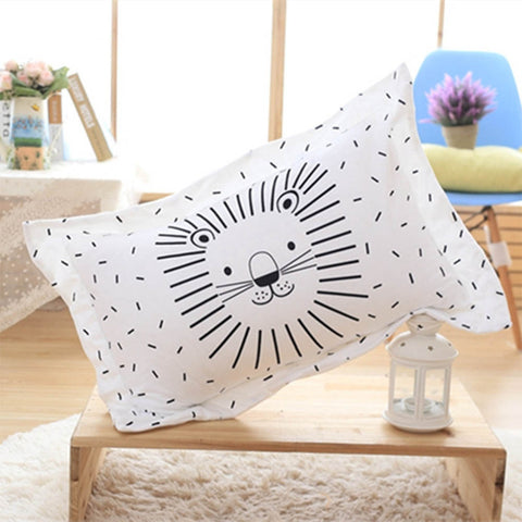 Cartoon Animal Nordic-Style Pillowcase