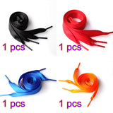 Funky Colorful Silk Ribbon Shoelaces - One Pair