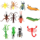 Set of 12 Plastic Insects