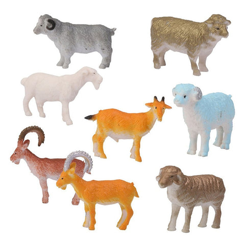 Plastic Sheep & Goats - Set of 8