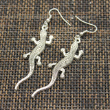 Gecko Lizard Pendant Earrings