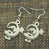 Gecko Lizard Reptile Pendant Earrings