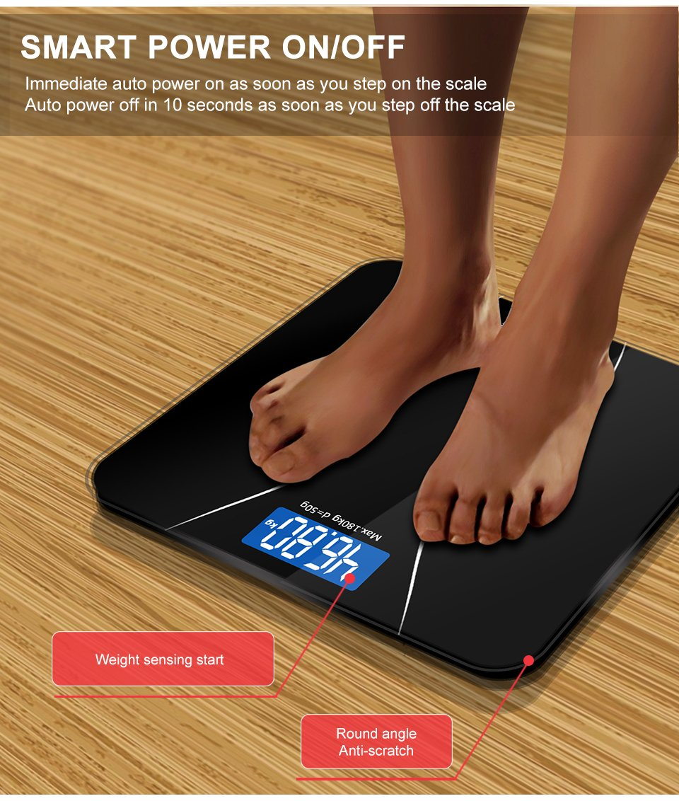 GASON - A2 Digital Bathroom Body Scale with LCD Display - ZeeFit Health