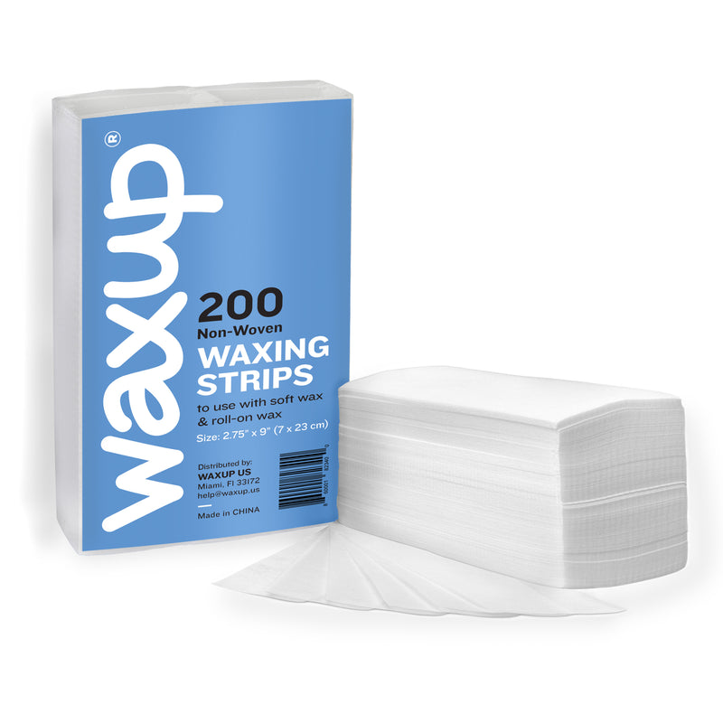 "non woven wax strips, non woven strips, wax paper for hair removal, hair removal paper, 2.75"" x 9, wax paper for waxing, depilatory paper, precut wax paper, epilating paper"