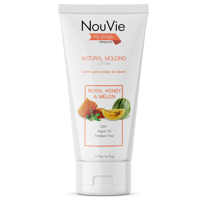 NouVie Intense Repair Hair Care Set, Royal Honey & Melon, Shampoo 8oz, Hair Masque and Natural Molding Lotion 6oz with Argan Oil, Prebiotics, Quinoa and Super Botanicals for Beautiful hair, Paraben Free, All Hair Types