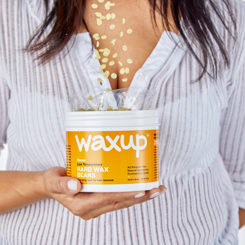 Professional Hard Wax Beans for Hair Removal, Honey Wax Beads for Whole Body, 36 oz Refill Pearl Wax Beads for Wax Warmers with Waxing Sticks, Waxing Kit