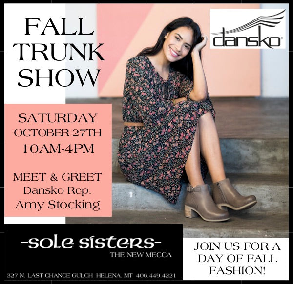 Dansko Annual Fall Trunk Show & Sockwell Buy 2, Get 1 FREE