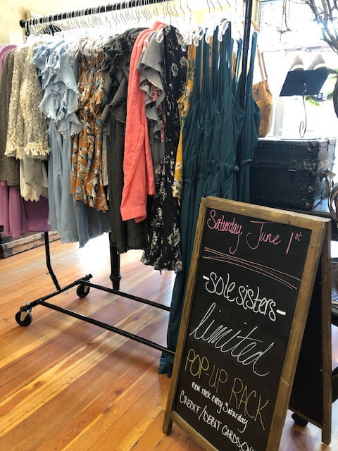shop -sole sisters- limited pop-up rack