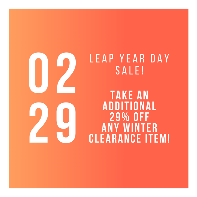 """leap year day"" sale"