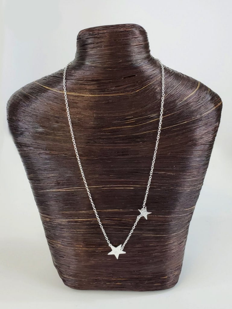 super star necklace-silver