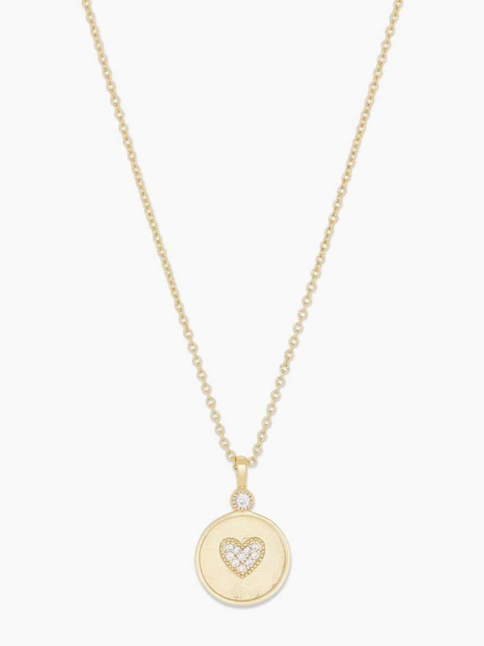 madison heart coin necklace-gold