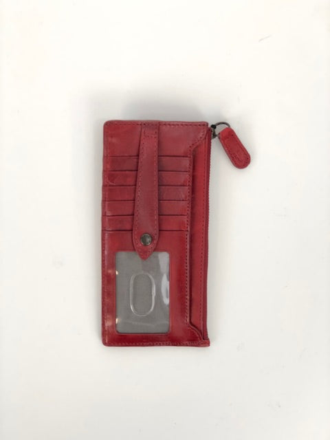 melissa snap card wallet - red